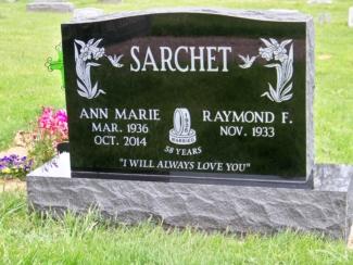 Sarchet, Raymond F - jet black- upright