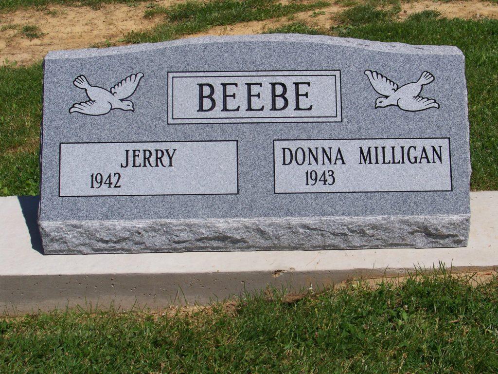 Beebe Companion Slant Headstone