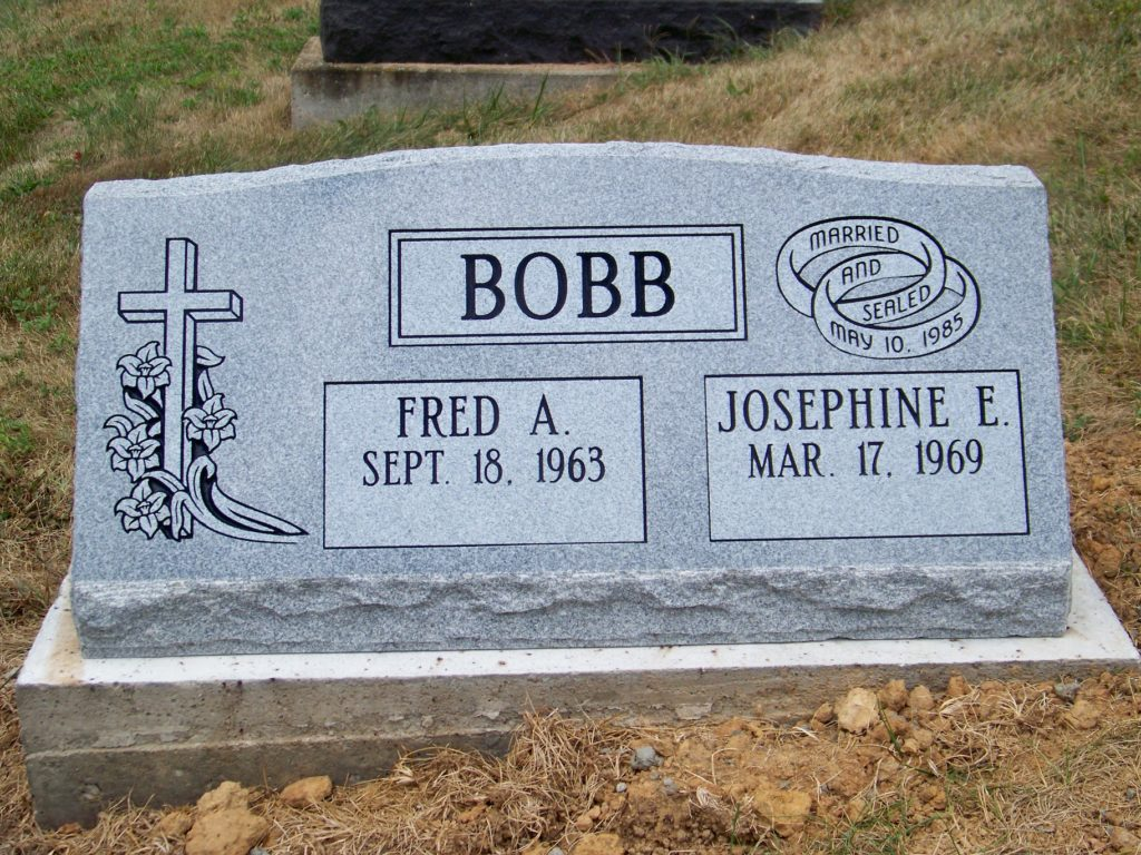 Bobb Companion Slant Headstone
