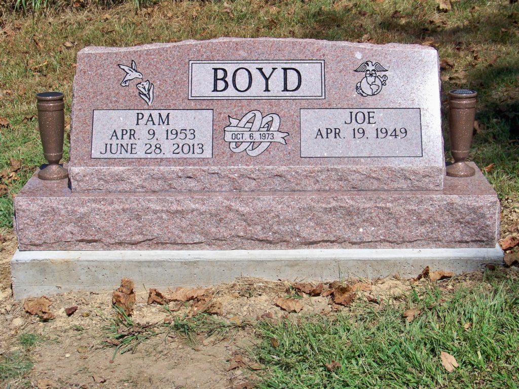 Boyd Companion Slant Headstone
