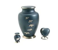 Blue Bird Cremation Urn