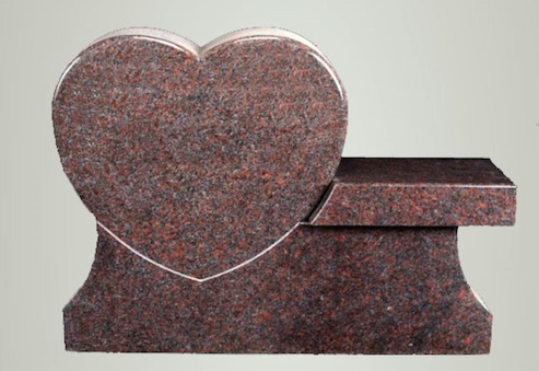 Heart Cremation Bench Monument