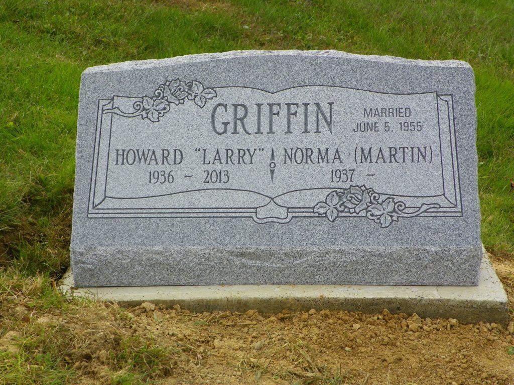Griffin Companion Slant Gravestone