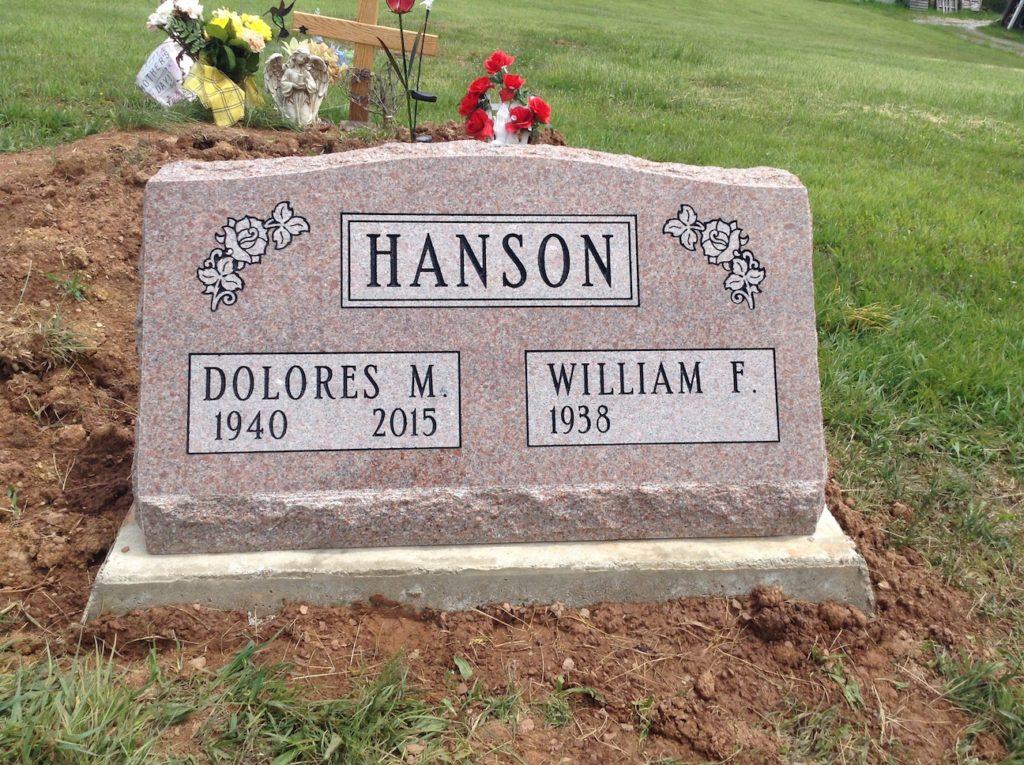 Hanson Companion Slant Memorial