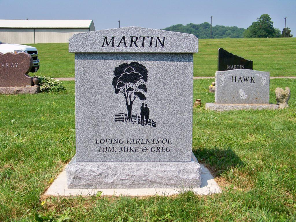 Martin Upright Cremation Memorial