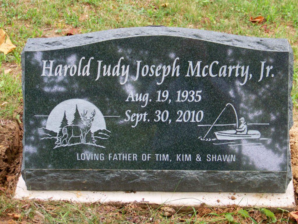 McCarty Personalized Slant Memorial