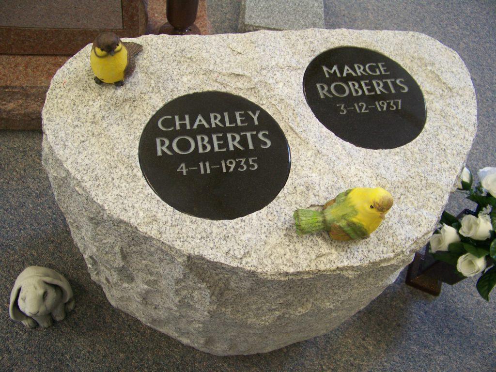 Roberts Cremation Memorial Stone