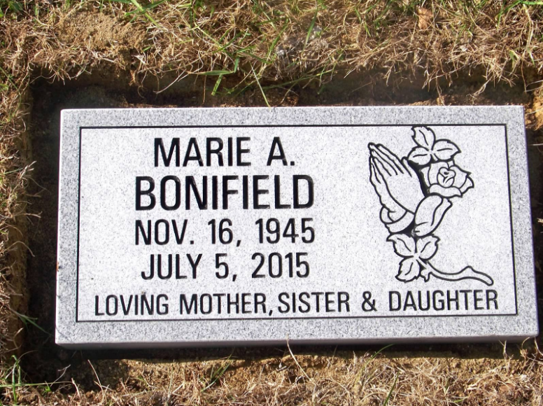 Bonifield Flush Flat Monument