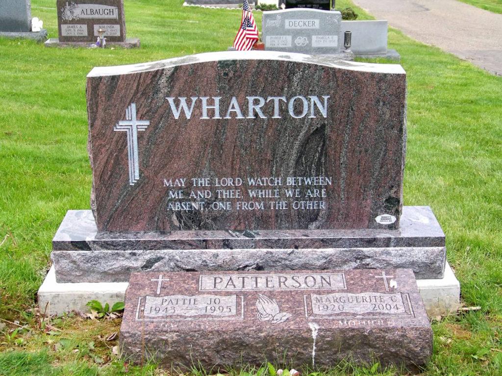 Wharton Companion Upright Headstone