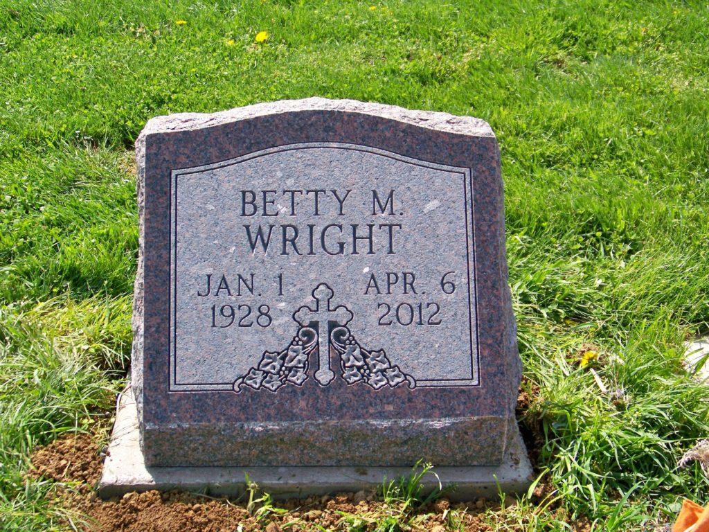 Wright Slant Headstone