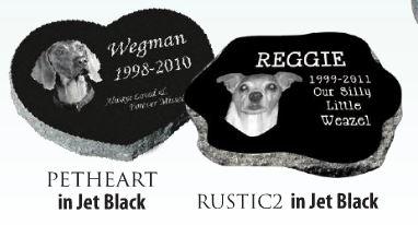 Shaped Pet Memorial Stone