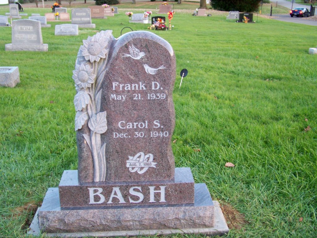 Bash Sculpted Upright Memorial