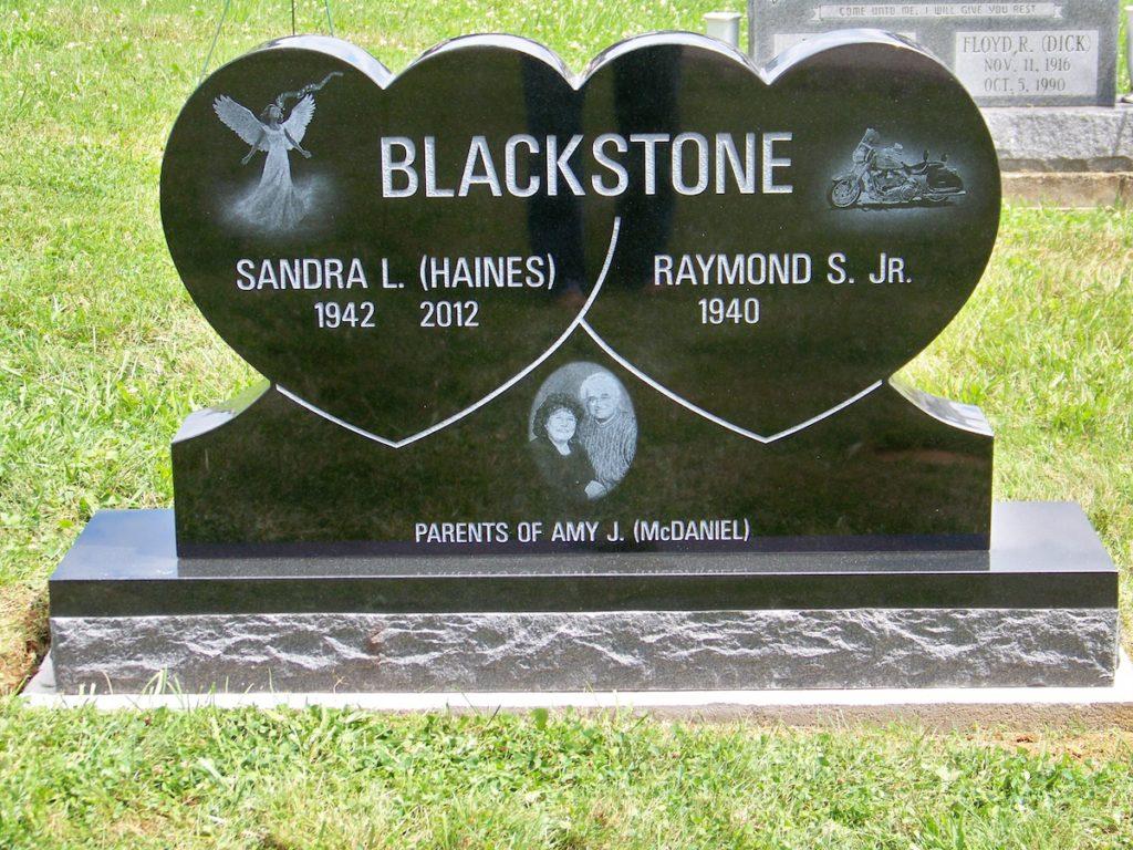 Blackstone Upright Headstone
