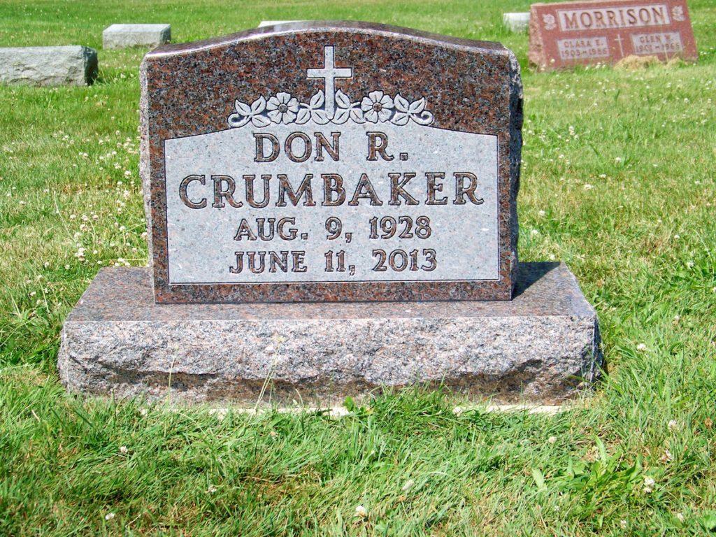 Crumbaker Upright Gravestone