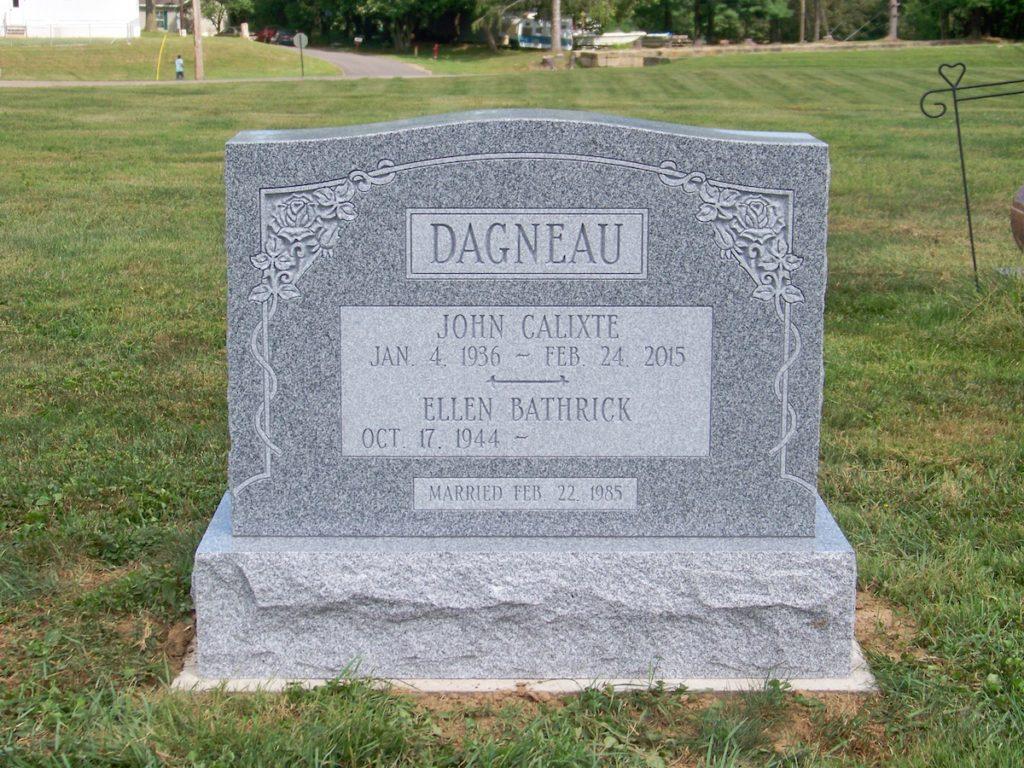 Dagneau Companion Upright Monument