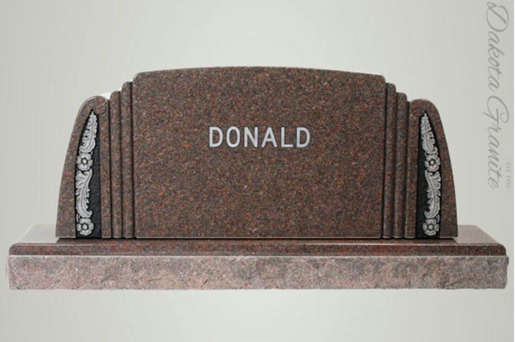 Donald Companion Upright Headstone