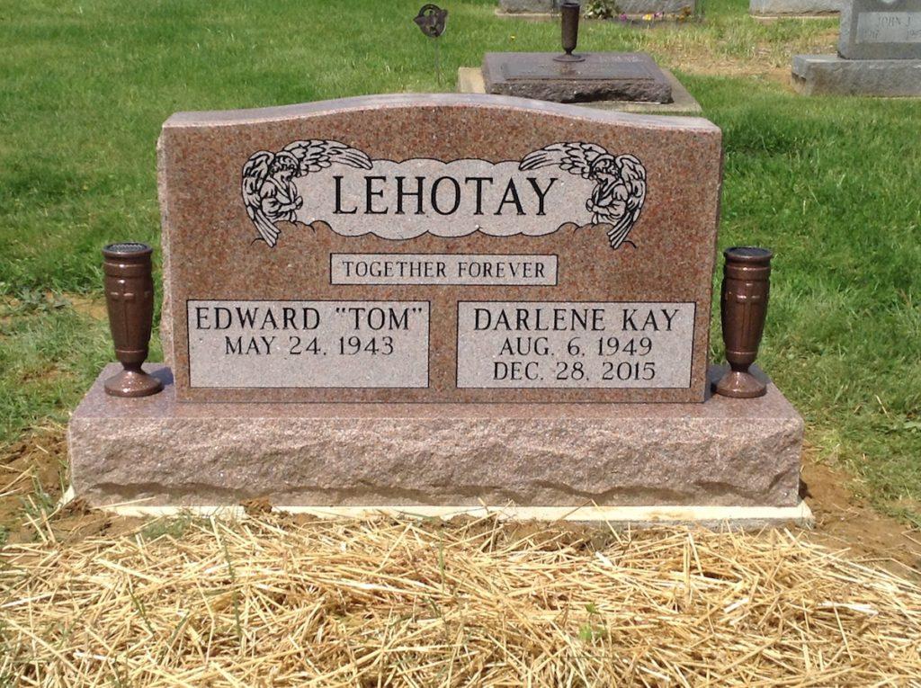Lehotay Companion Upright Headstone