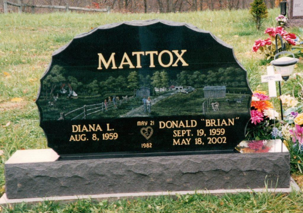 Mattox Companion Upright Gravestone