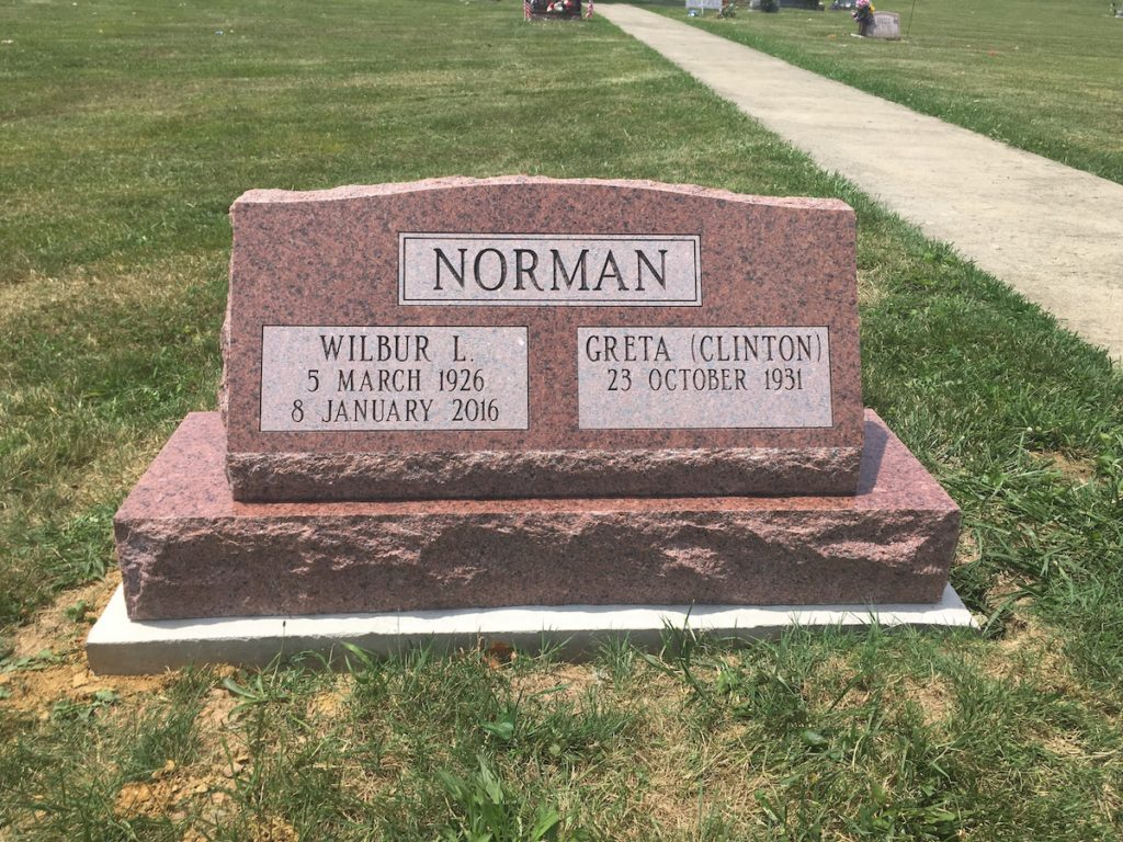 Norman Companion Slant Memorial