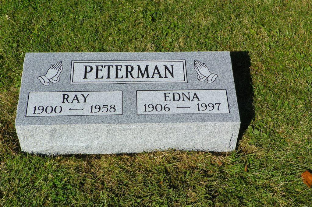 Peterman Companion Flat Headstone