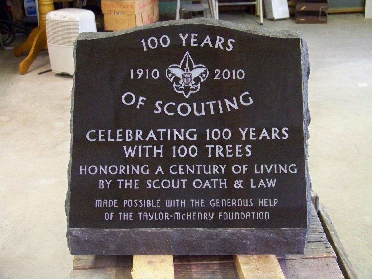 Boy Scout Slant Monument