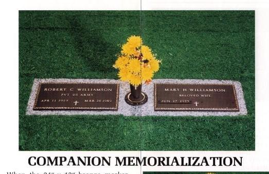 VA Companion Plaque