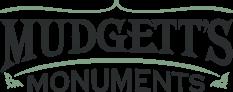 Logo for Mudgett's Monuments in Zanesville, Ohio