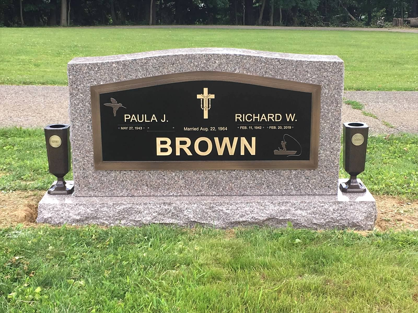 Brown Bronze Upright Monuments