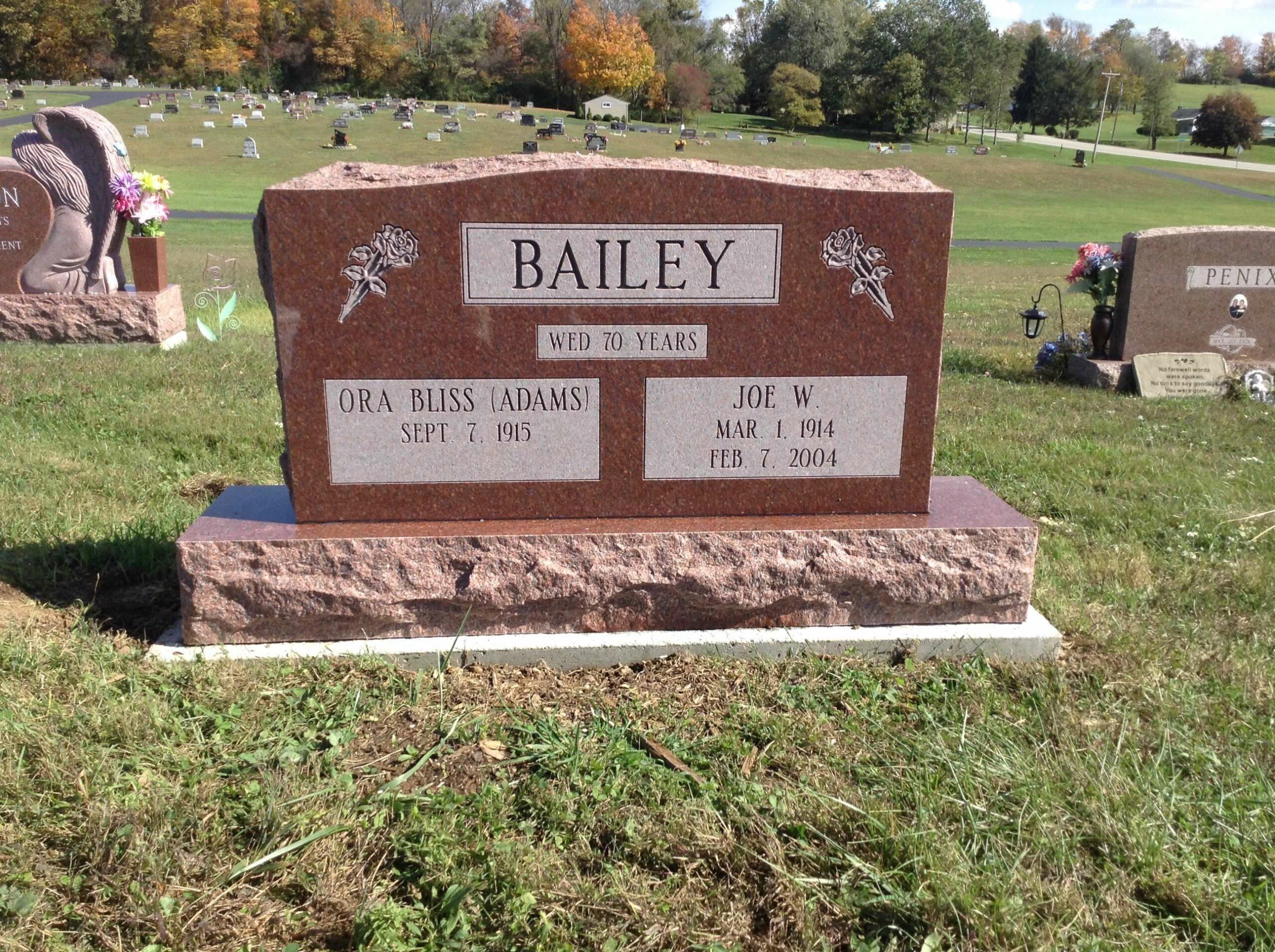 Bailey, Ora Bliss