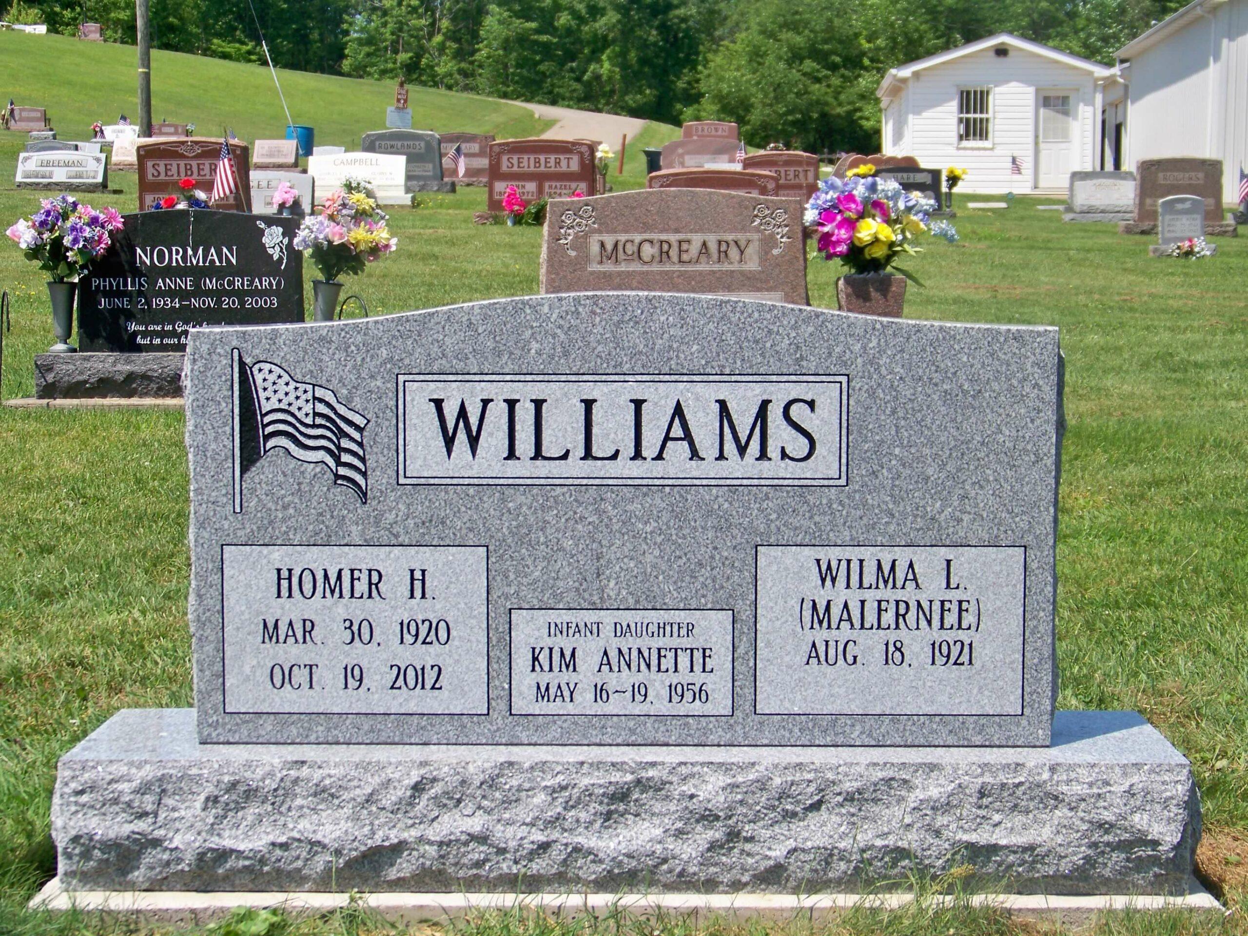 Williams, Homer H., Wilma L.