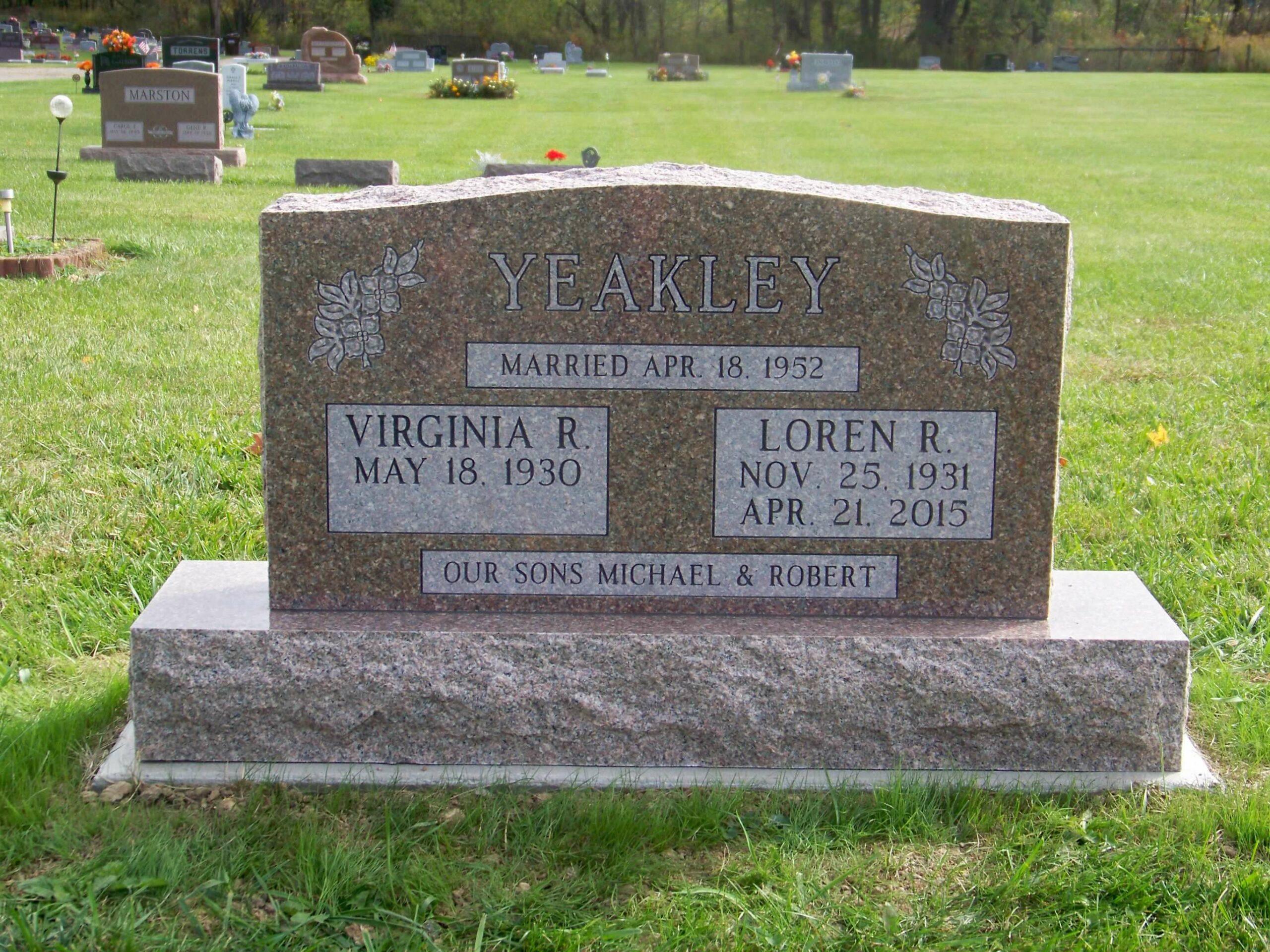 Yeakley, Loren and Virginia- Utica Southlawn- 3-0- autumn rose
