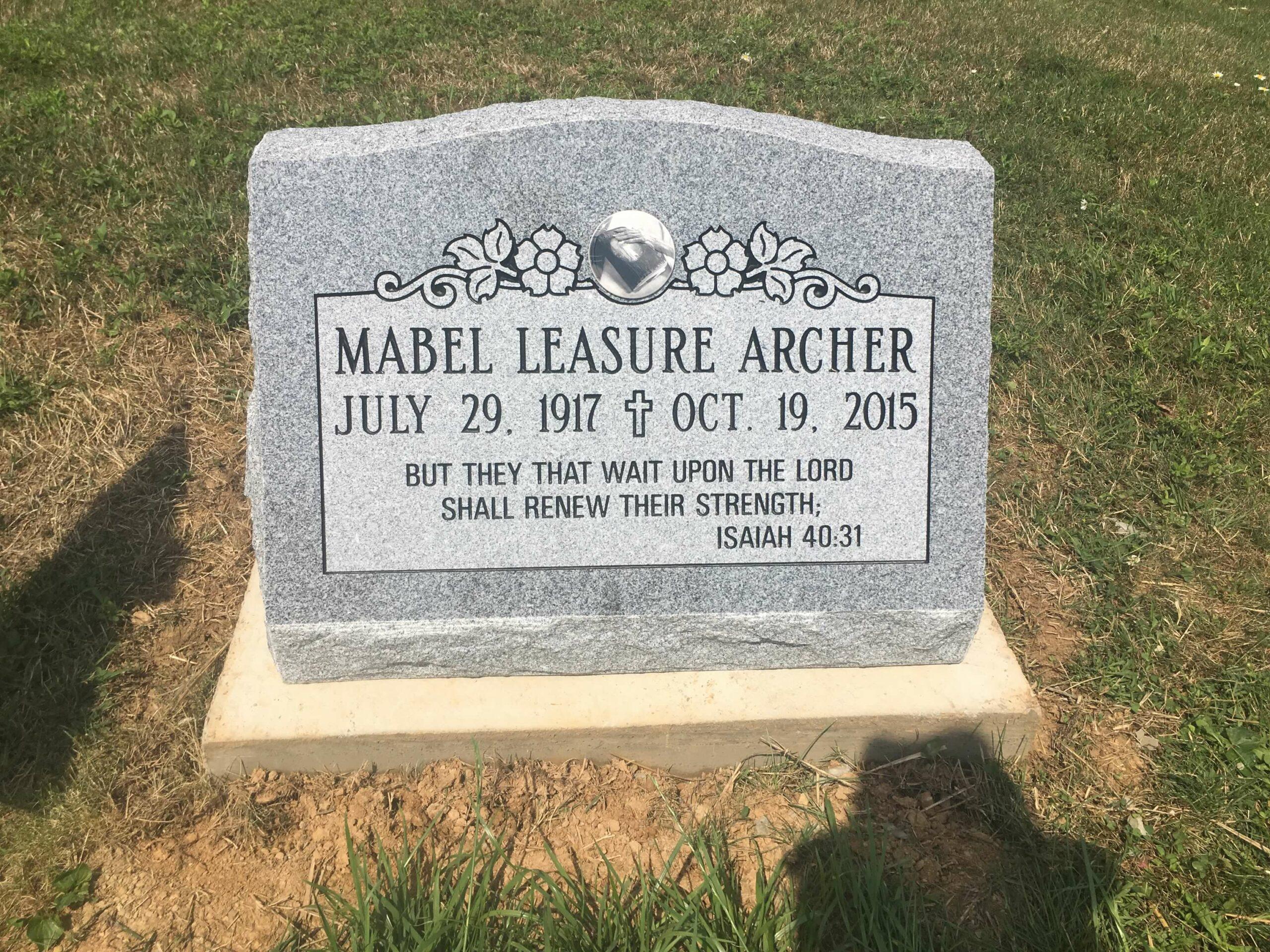 Archer, Mabel Leasure - Olive Cem., 2-0, Gray (2)