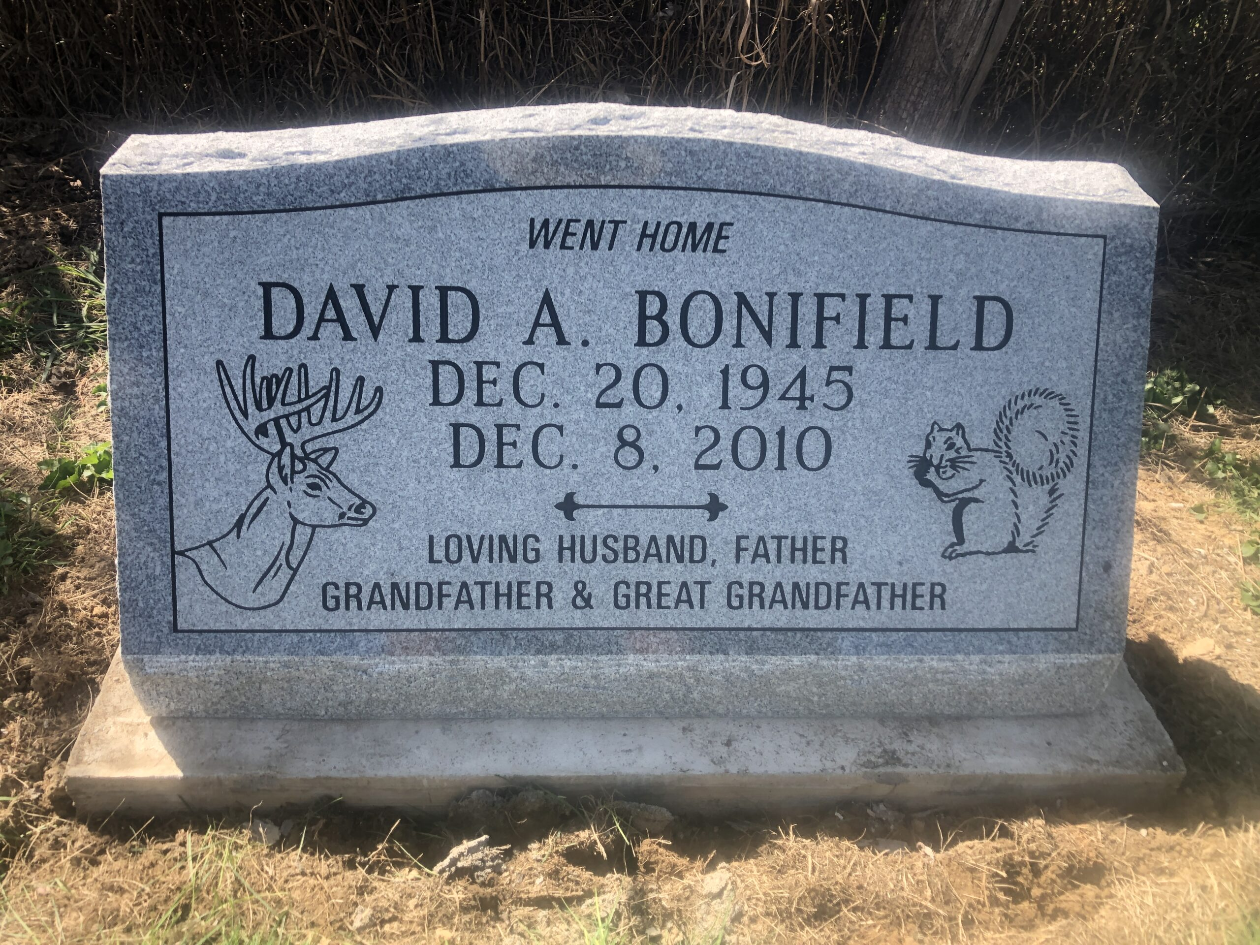 Bonifield, David A. - Mt. Sterling Cem., 2-6, Gray