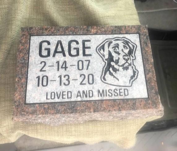Gage Pet Memorial