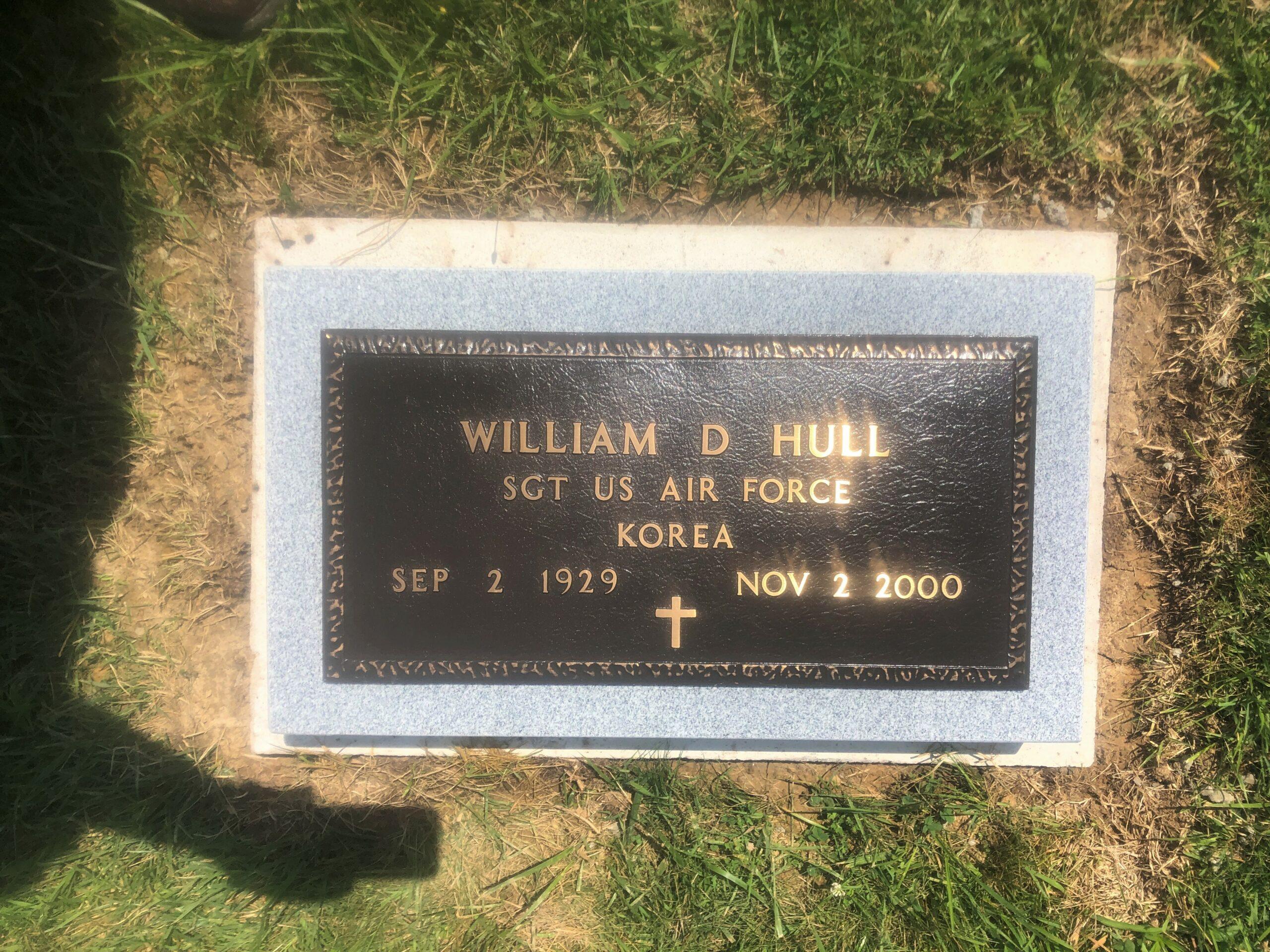 Hull, William D. - Crooksville Cem., 24x12 Bronze