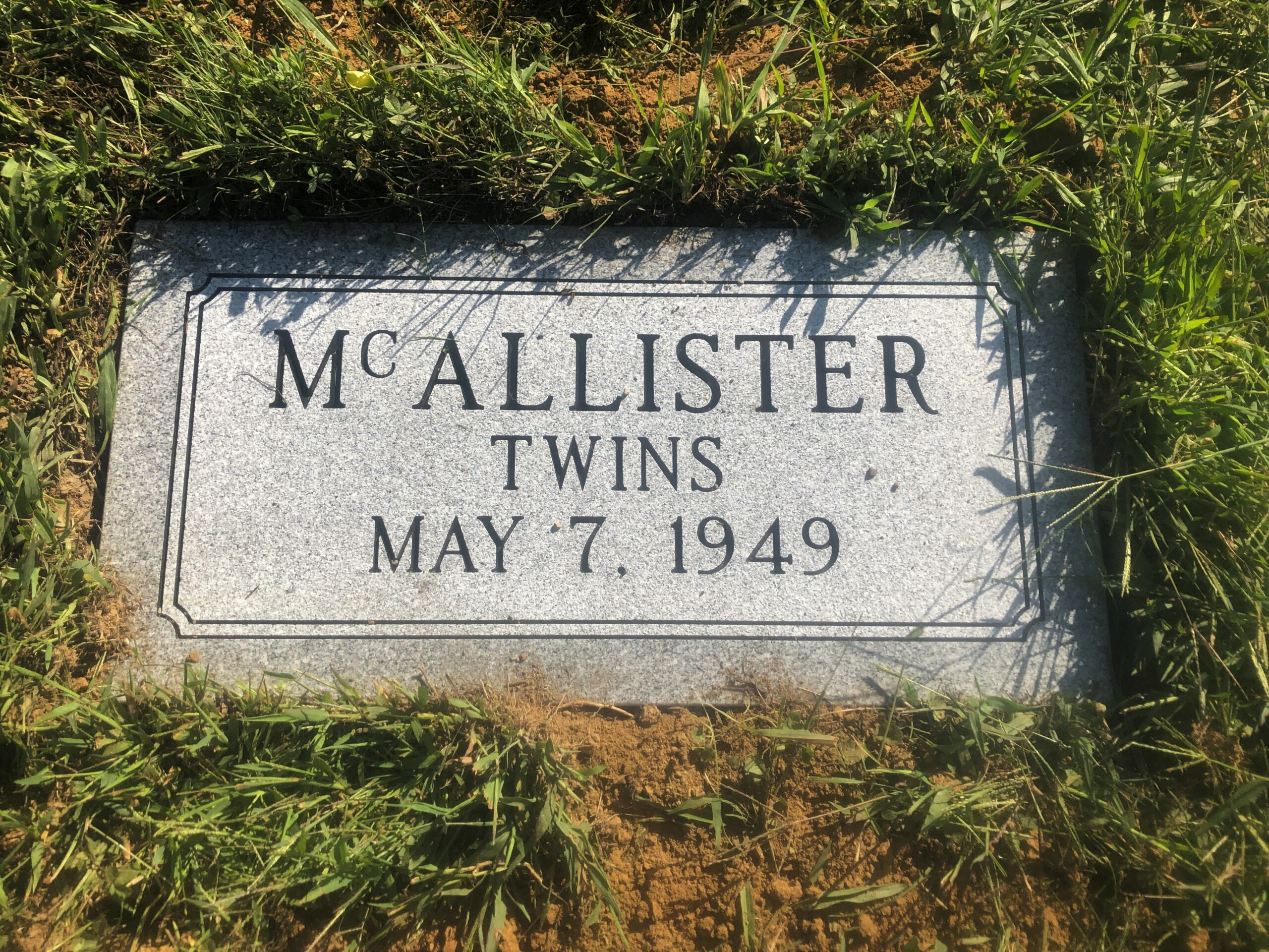 McAllister Twins - New Concord Cem., 2-0, Gray