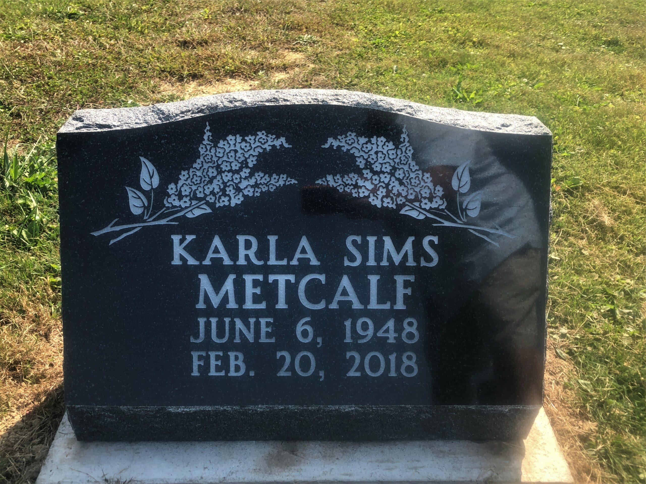 Metcalf, Karla Sims - Rose Hill Cem., 2-0, American Black