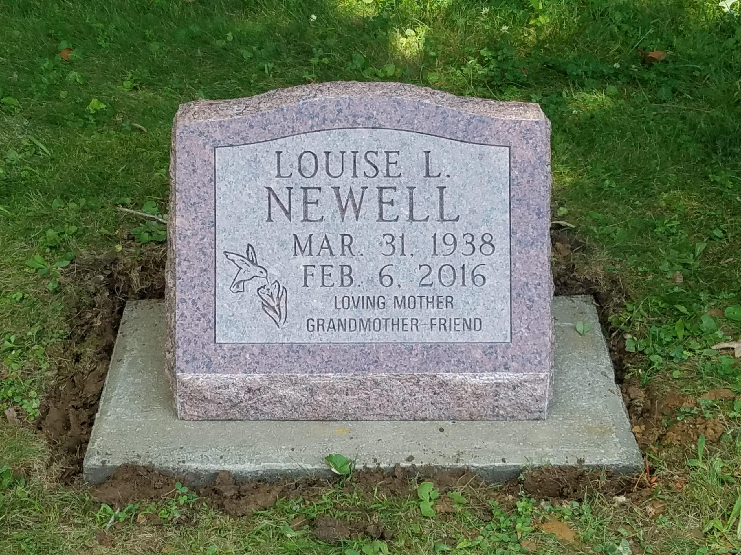 Newell, Louise L. - Prospect Cem., 1-8, Missouri Red