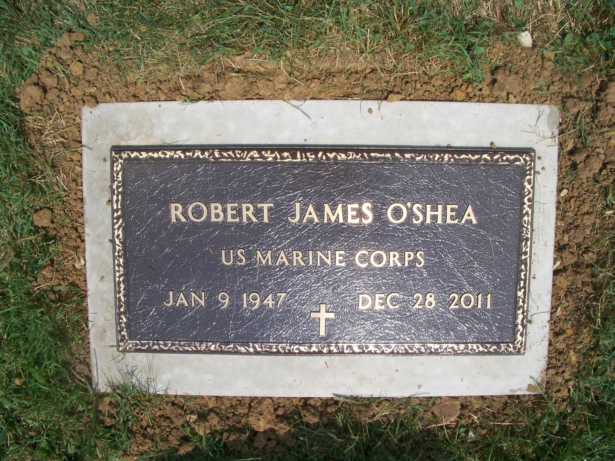 O'Shea, Robert J. - Cumberland - VA Plaque