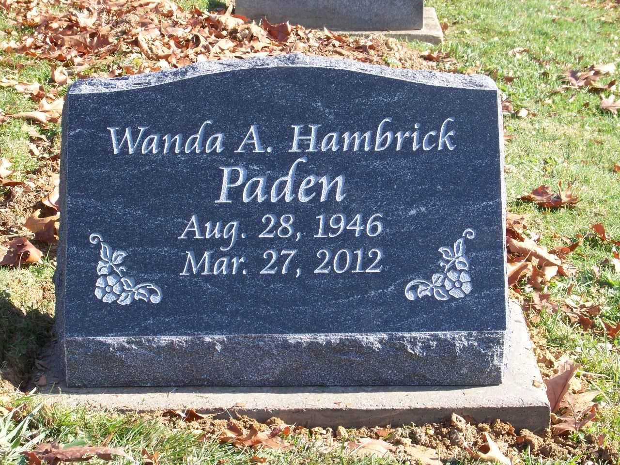 Paden, Wanda A. Hambrick