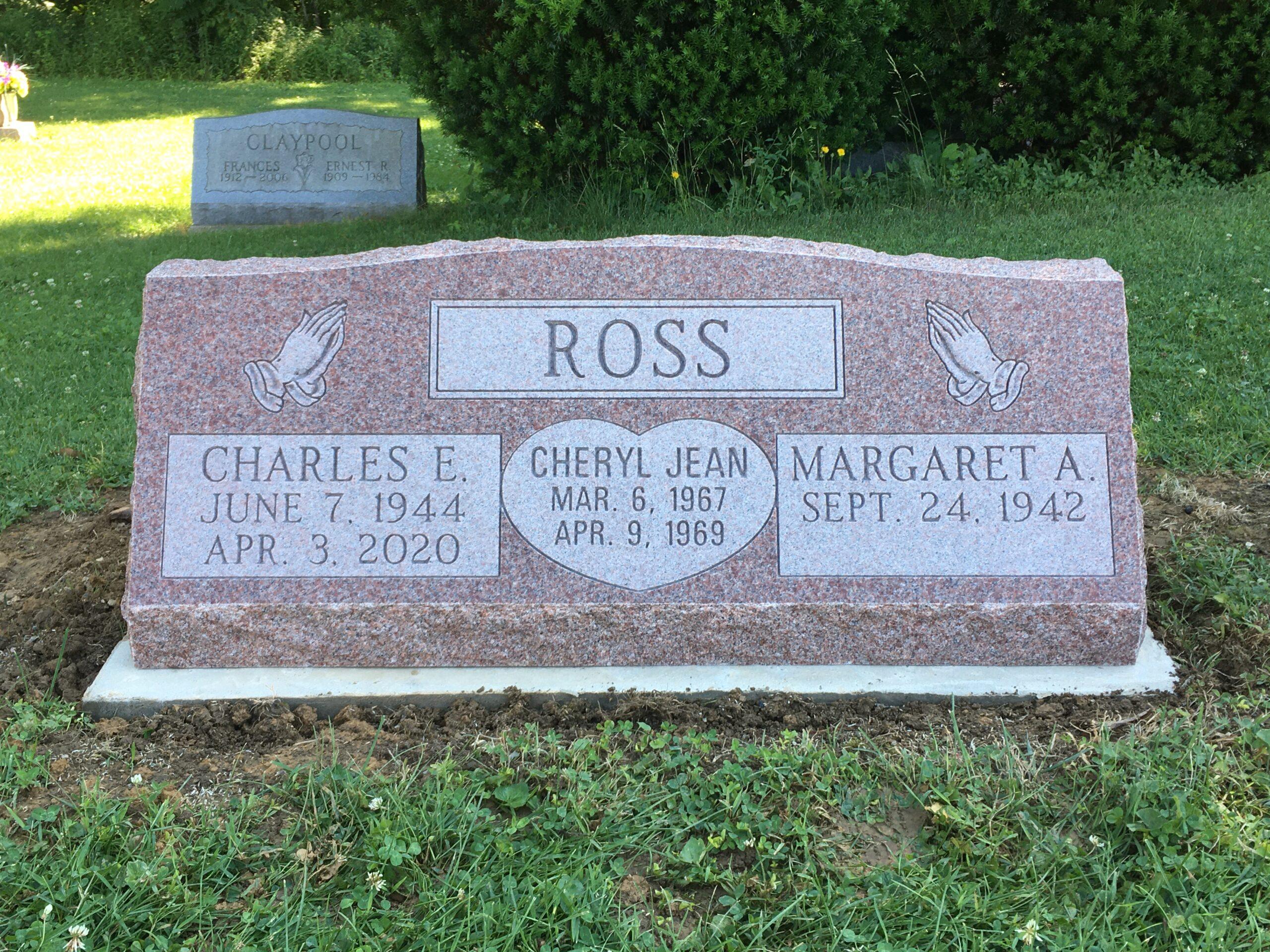 Ross, Charles - Cheryl - Margaret - Williams Cem., 3-6, No. Am. Pink