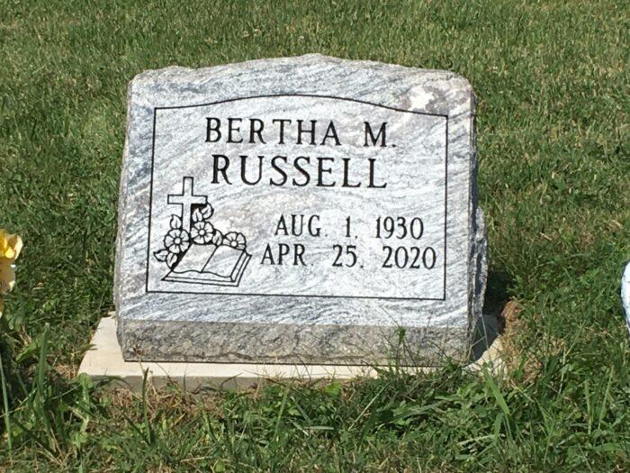 Russell, Bertha M. - Rose Hill Cem., 1-8, Gray Cloud