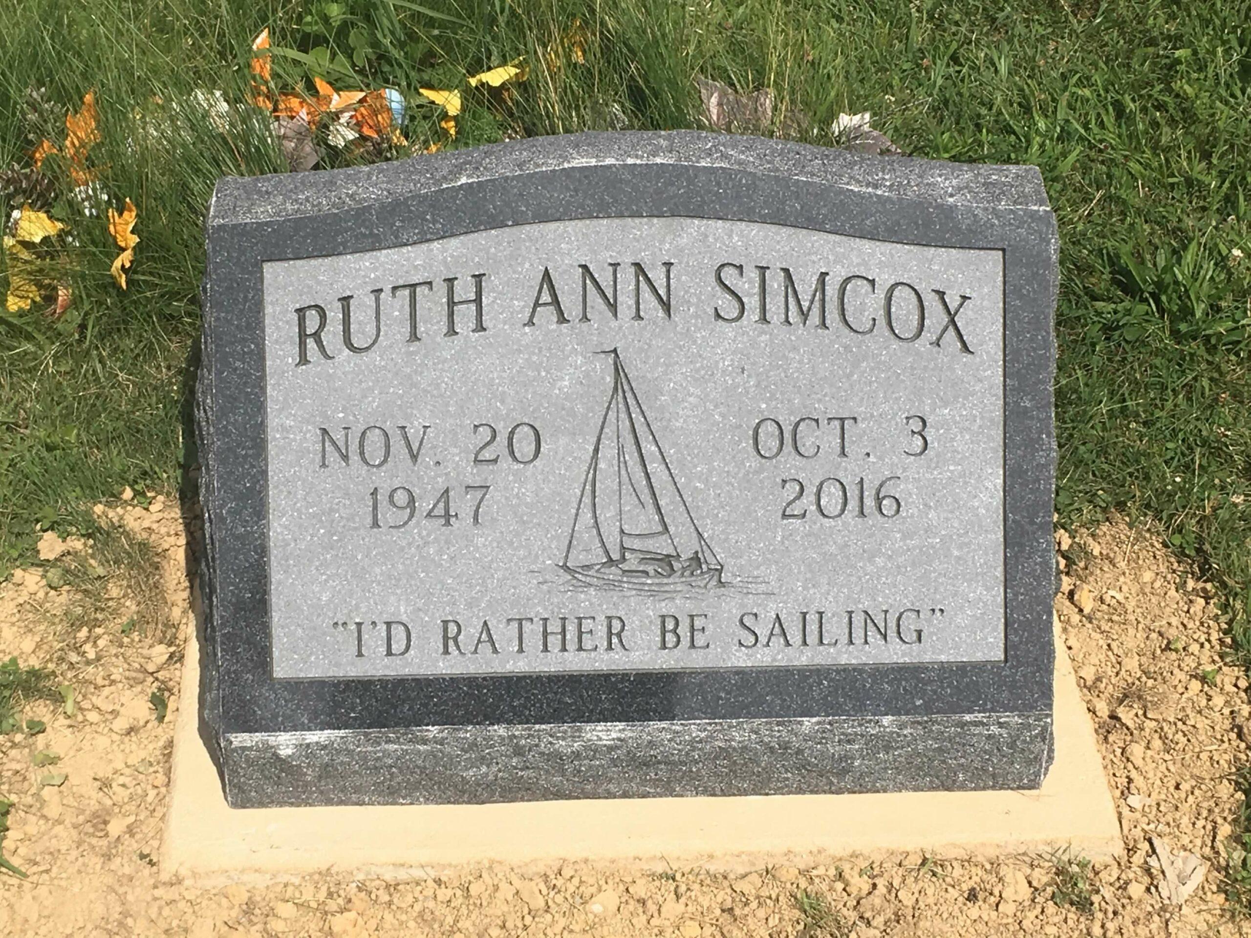 Simcox, Ruth Ann - Mt. Herman Cem., 2-0, Amer. Black