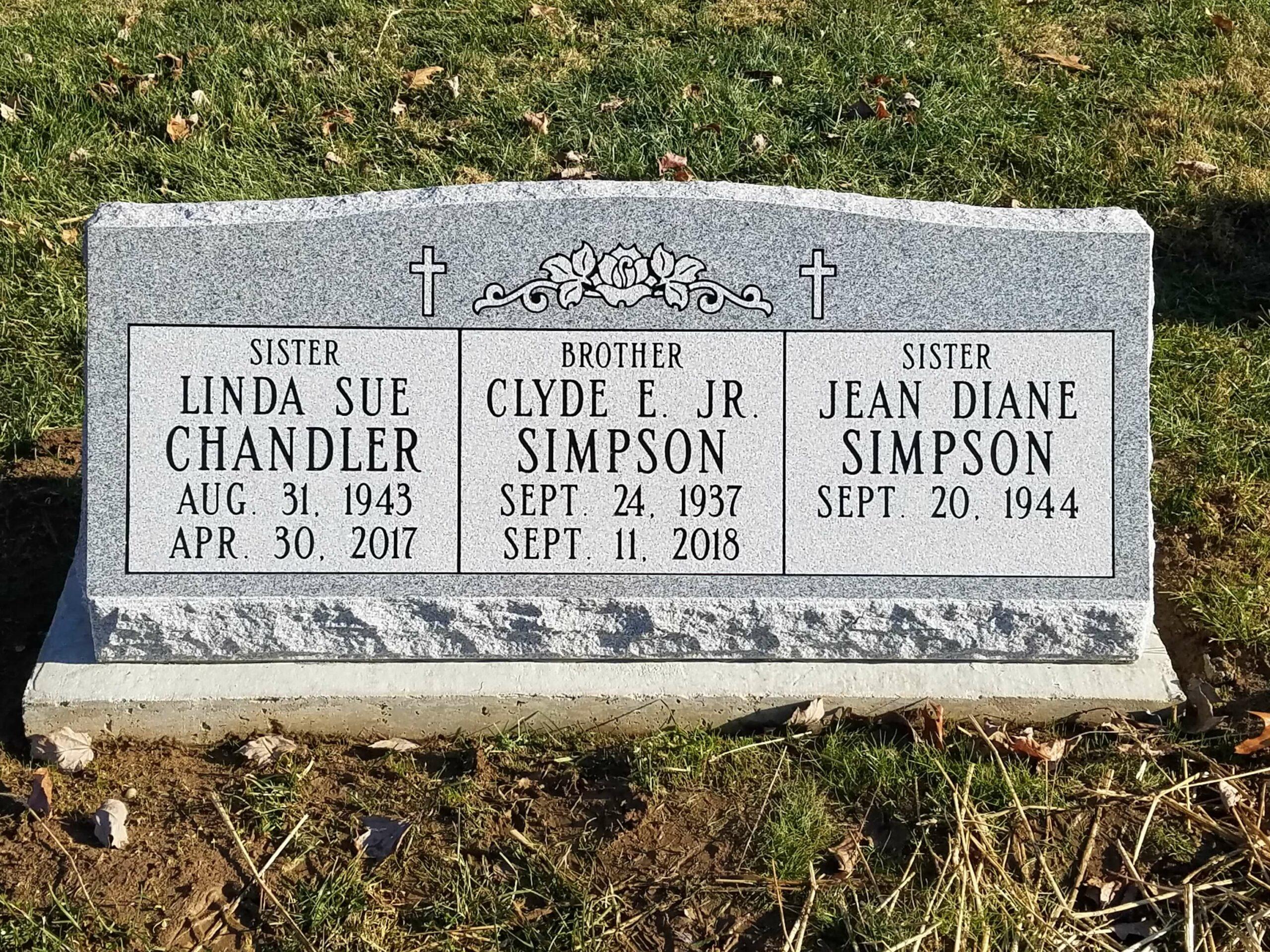 Simpson, Clyde - Simpson, Jean - Chandler, Linda - Northwood Cem., 3-6, Gray
