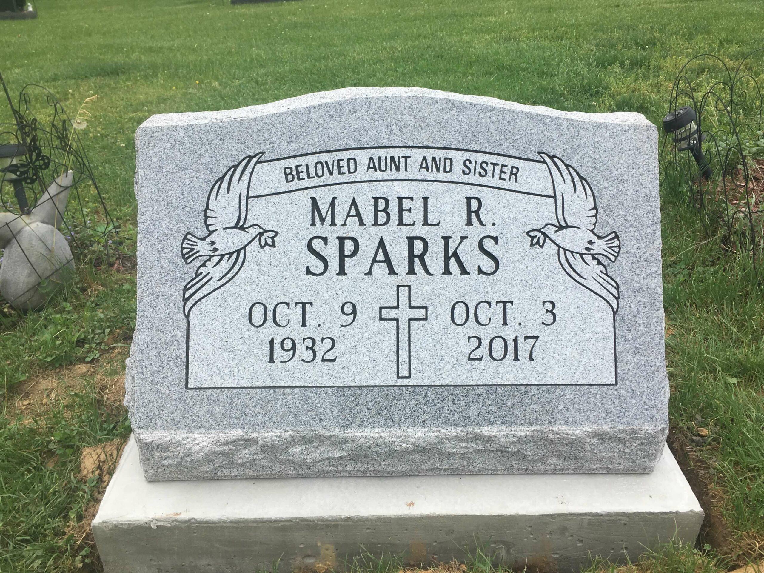Sparks, Mabel R. - Northwood Cem., 2-0, Gray