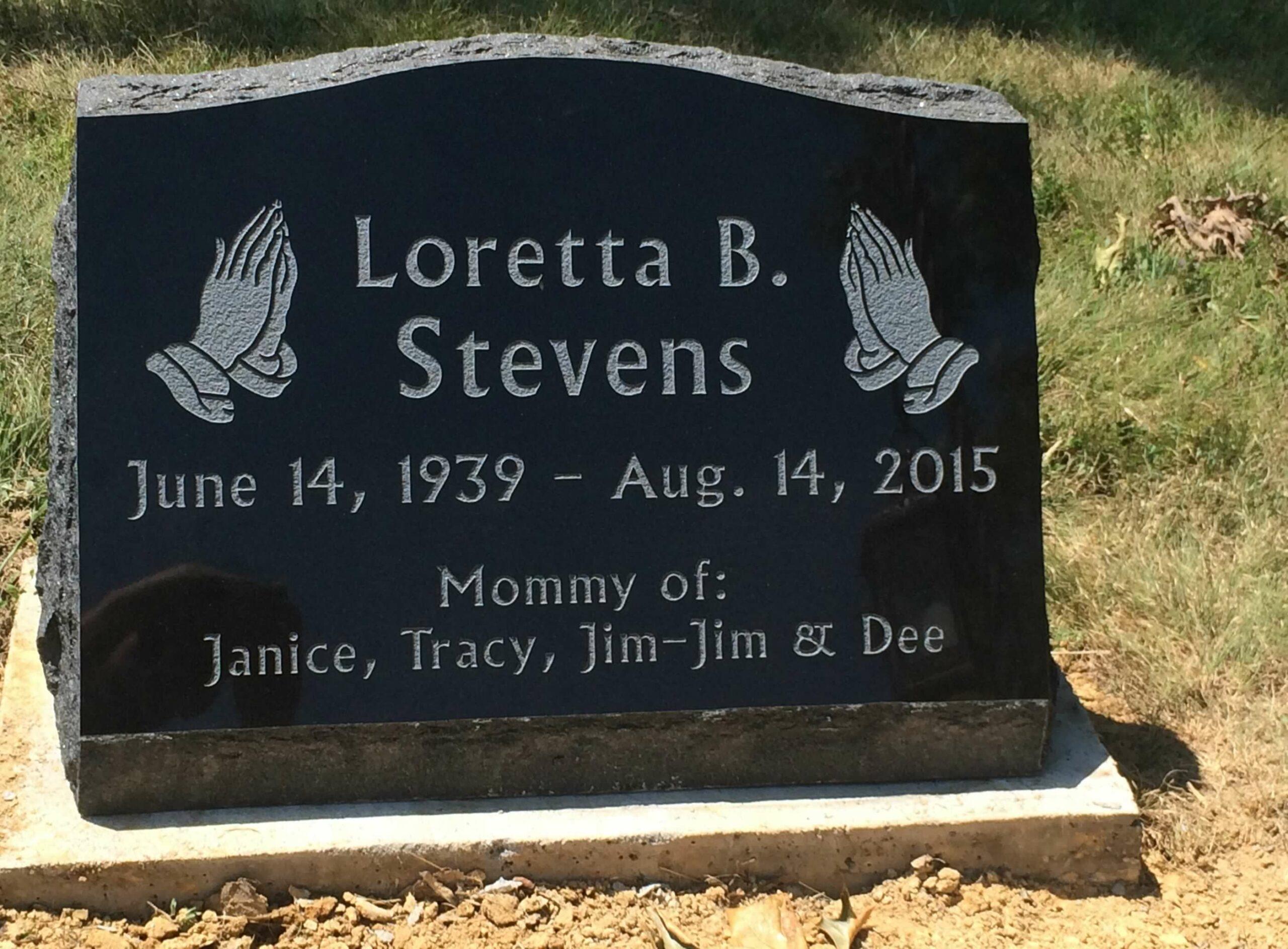 Stevens, Loretta - Southland Mission Cem., 2-0, Jet Black