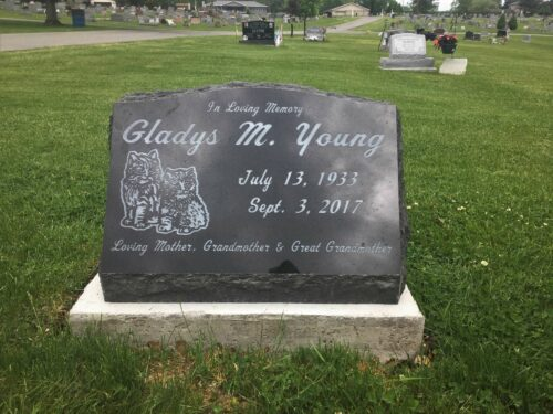 Young, Gladys M. - Northwood Cem., 2-0, Jet Blk