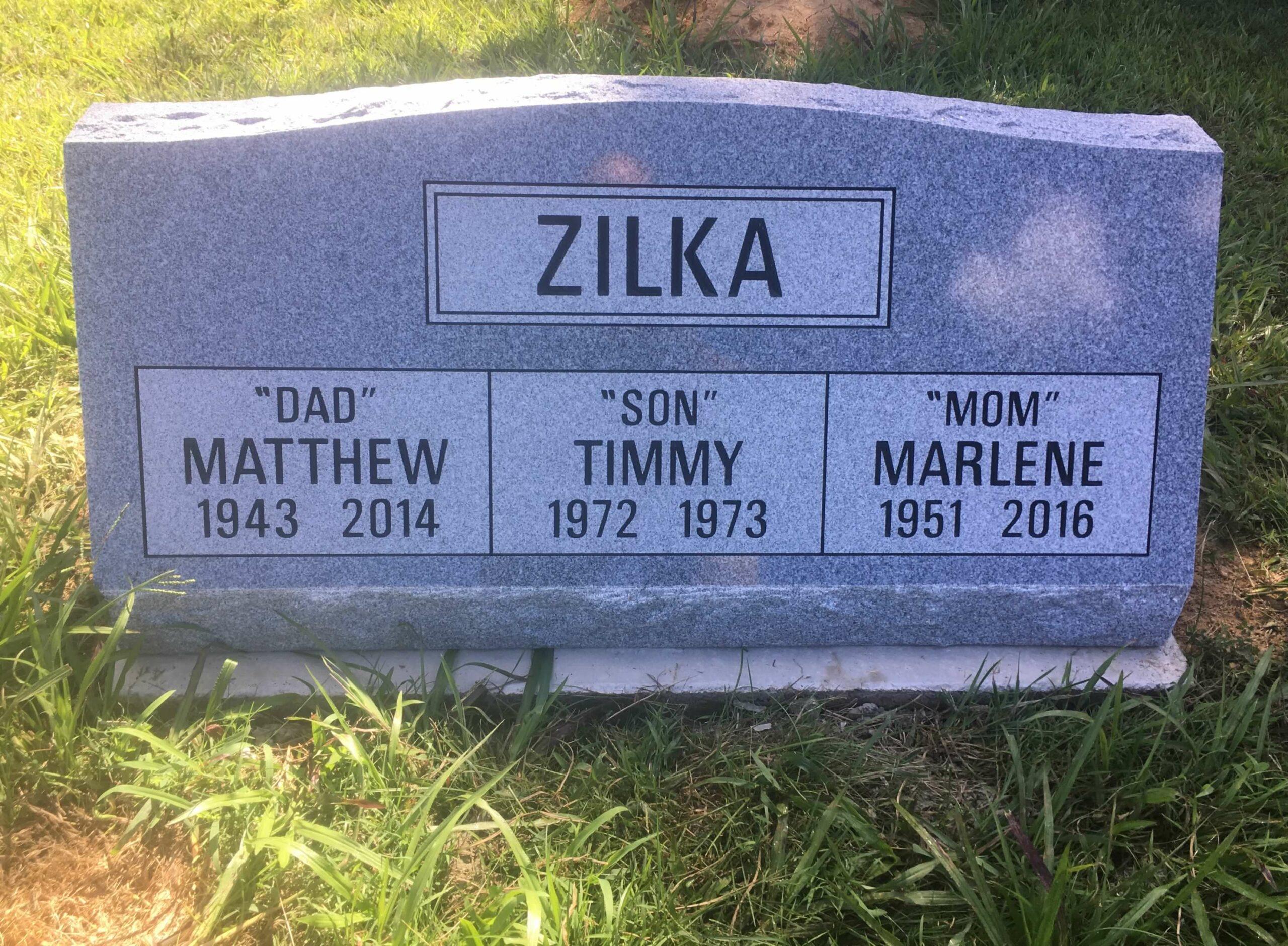 Zilka,, Matthew, Marlene